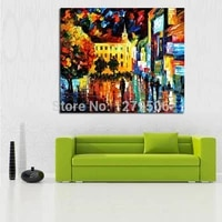 handpainted oil painting on canvas knife thick oil painting street view modern handmade picture for room home decor no framed