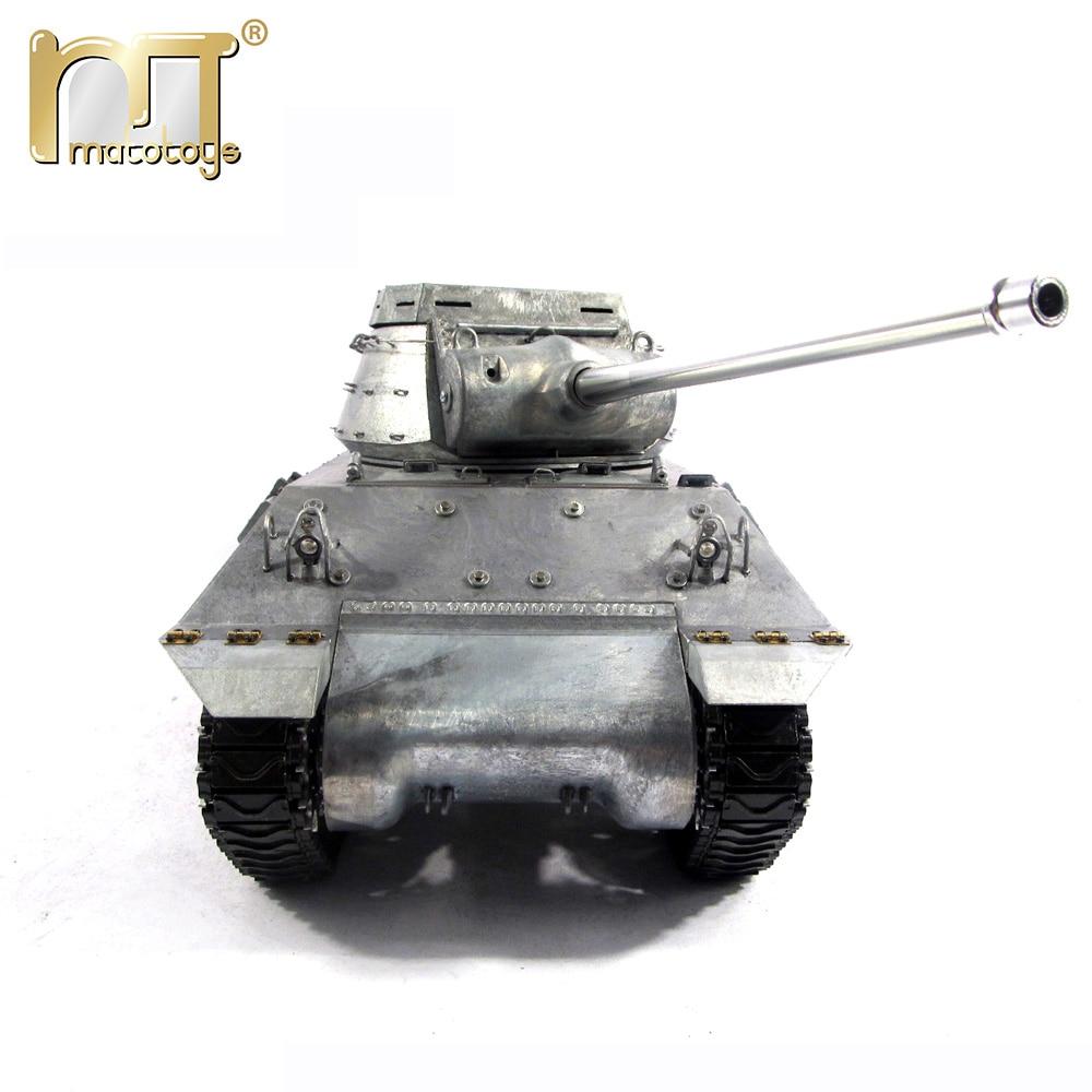MATO 100% Metall Tank Fernbedienung M36 Destroyer 116 RC Tank Bereit Zu Laufen Infrarot Recoil Modell RC Tanks