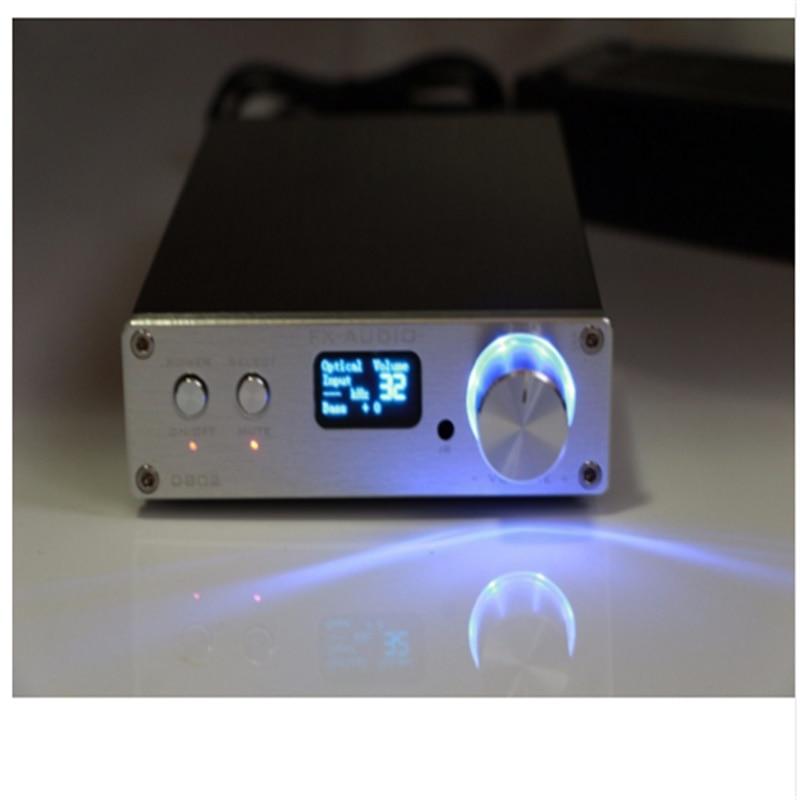 D802 STA326 80 w + 80 w Controle Remoto Entrada USB/Coaxial/Óptica HiFi 2.0 Puro de Áudio Digital amplificador 24Bit/192 khz Display OLED