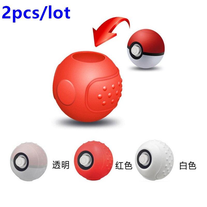 2 unids/lote de funda blanda de silicona protectora para Nintendo Switch NS Poke Ball Plus controlador Pokeball Eevee accesorios de Juego clásicos