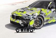 Schwarz Gelb Grau Camouflage Vinyl Aufkleber Auto Film Wrap Mit Luftblase Klebstoff Motorrad Roller Aufkleber Wrapping ORINO WRAPS