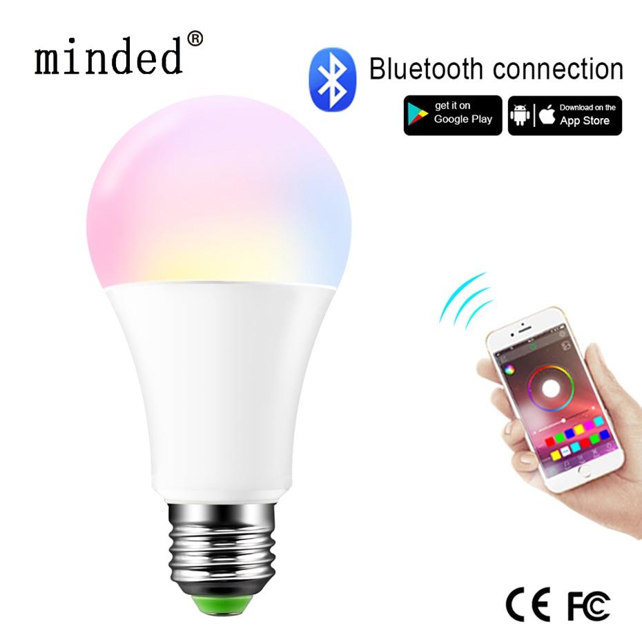 Dimmable E27/B22 LED Bluetooth 4.0 Smart Bulb Magic Lamp RGB+W RGB+WW 15W AC85-265V Music Color Changeable Timing Home Lighting