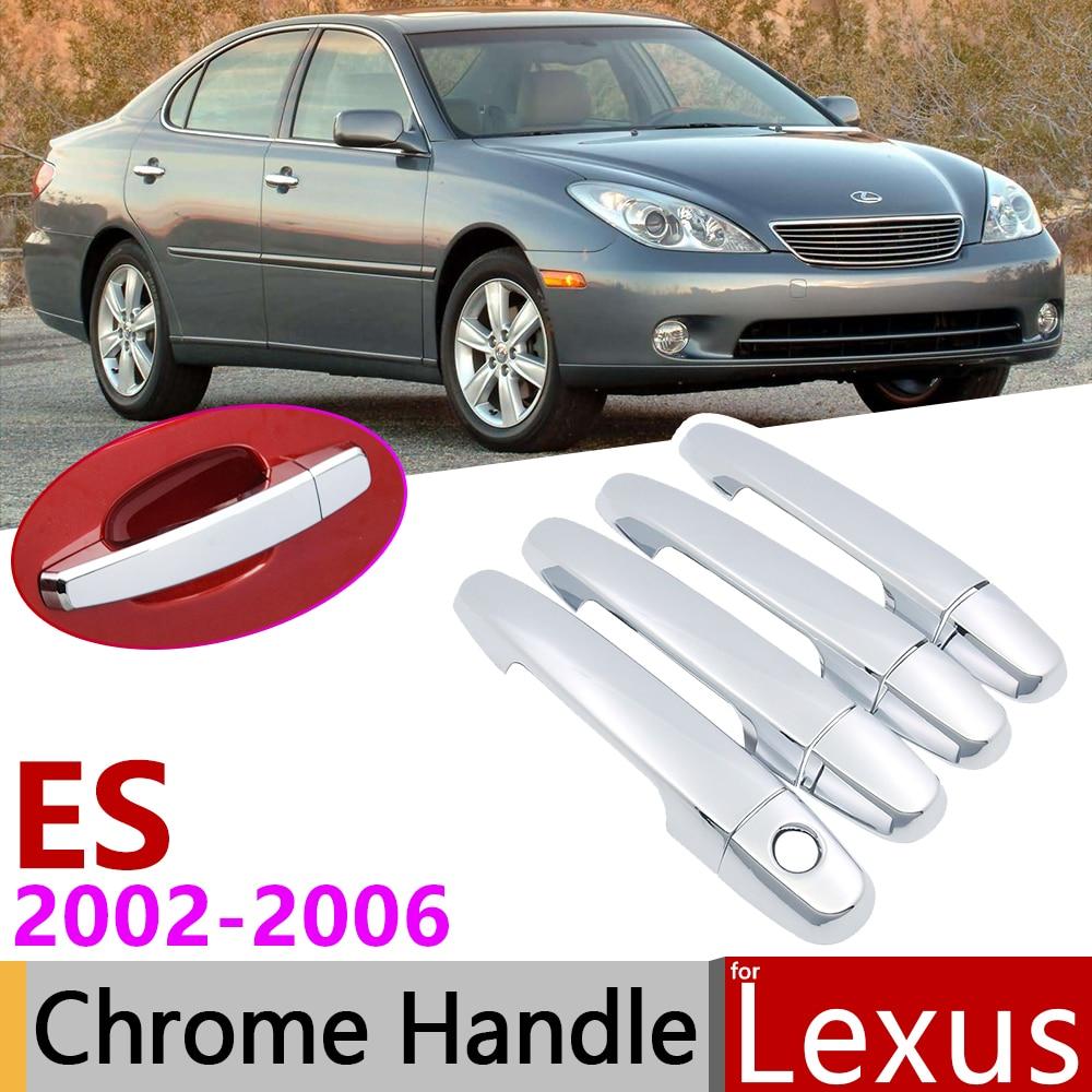 for Lexus ES XV30 ES300 ES330 2002~2006 Chrome Door Handle Cover Car Accessories Stickers Trim Set of 4Door 2003 2004 2005