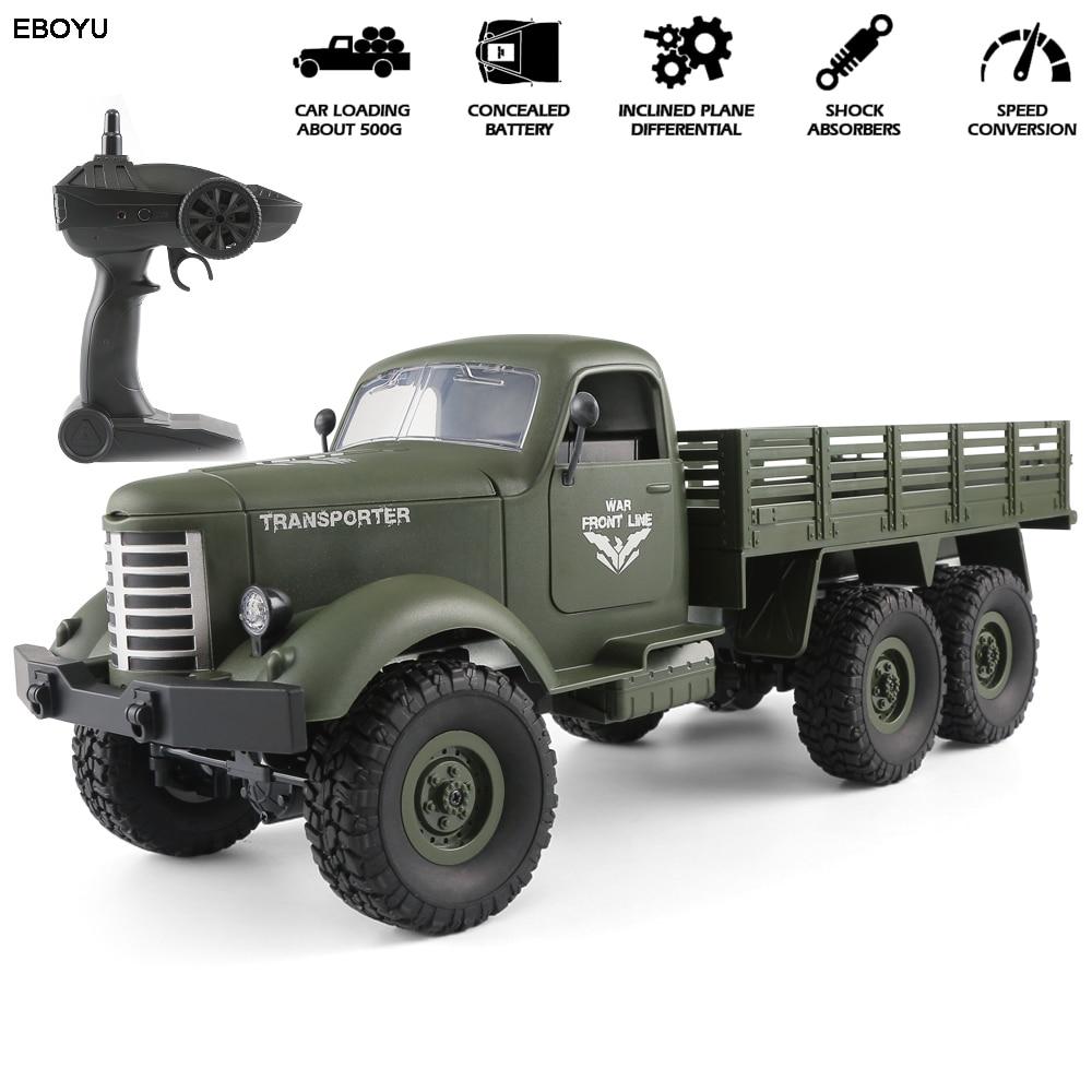 JJRC Q60 / JJRC Q61 1/16 RC شاحنة 2.4G 6WD/ 4WD RC على الطرق الوعرة زاحفة شاحنة عسكرية سيارة الجيش سيارة هدية للأطفال لعبة للأولاد RTR