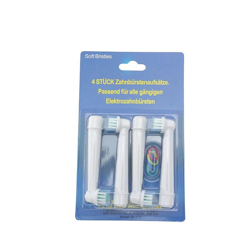 Cabezales de cepillo de dientes eléctrico SB-17A 8 Uds para limpieza precisa Oral B reemplazo de cerdas suaves POM 4 colores gran oferta D16, D18, D20, D25