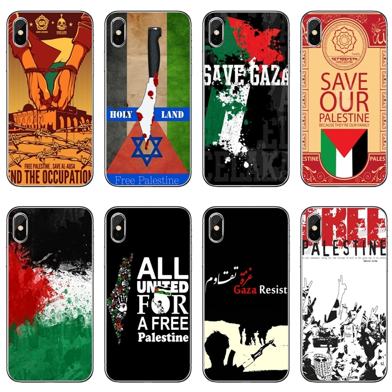 Libre bandera palestina arte parar las guerras suave de tpu funda para Samsung Galaxy A10 A30 A40 A50 A60 A70 Huawei P30 lite pro P Smart Y6 2019