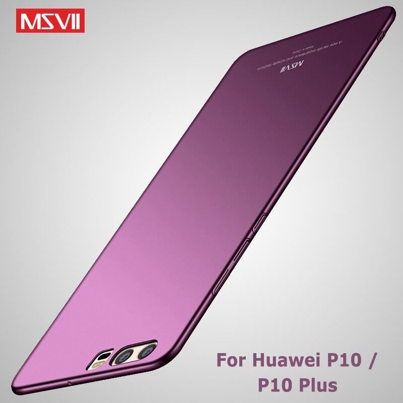Fundas MSVII para Huawei P10, carcasa para Huawei P10 Lite, carcasa P 10 Silm mate, carcasa para PC, funda para Huawei P10 Plus, fundas para teléfono