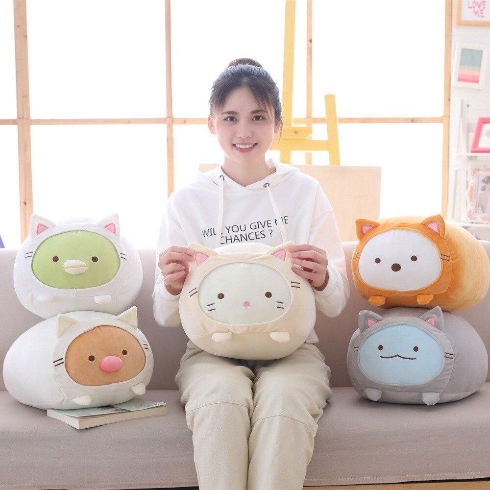 Cojín Sumikko Gurashi de dibujos animados japoneses de 55cm, peluche de esquina, Bio almohada, muñeco, regalo de San Valentín para chico y chica de cumpleaños
