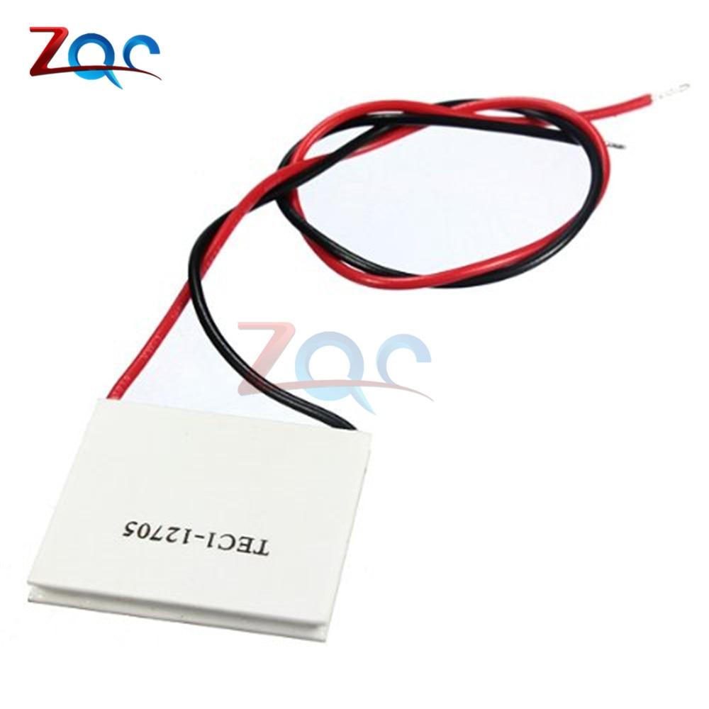 Disipador térmico TEC1-12705, termoeléctrico, enfriador, placa Peltier de enfriamiento, 12705, 12 V, 5A, celdas TEC12705, módulo Peltier