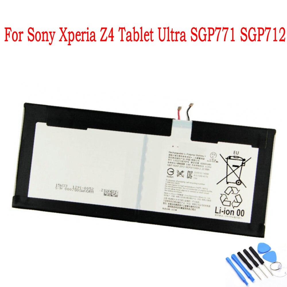 LIS2210ERPX LIS2210ERPC, batería de 6000mAh para tableta Sony Xperia Z4, Ultra SGP771 SGP712, batería para tableta PC