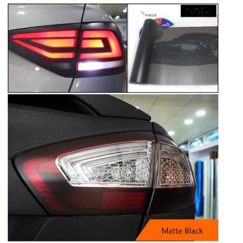 30*180cm Matt Smoke Light Film Car Matte Black Tint Headlight Taillight Fog Light Vinyl Film Rear Lamp Tinting Film