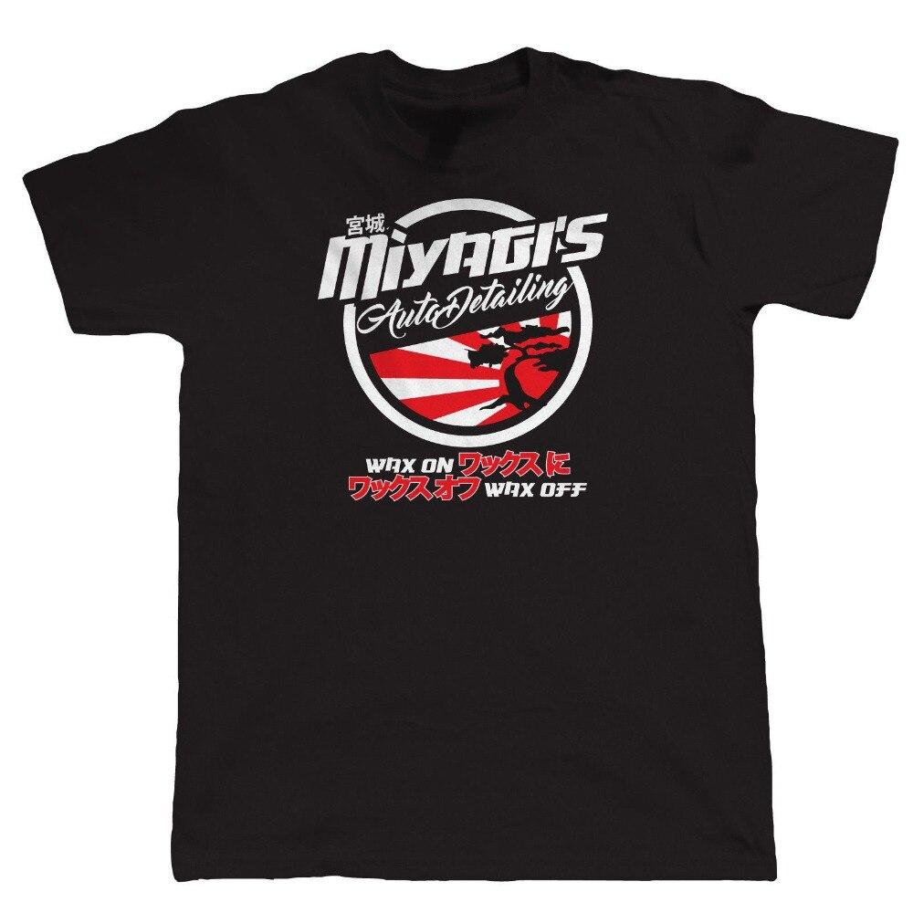 Inspirado MiyagiS Auto Detailing Mens Jdm camiseta-Ae86 Drift Hot Rod Cal Look nuevo 2019 moda MenS calidad camisetas personalizadas