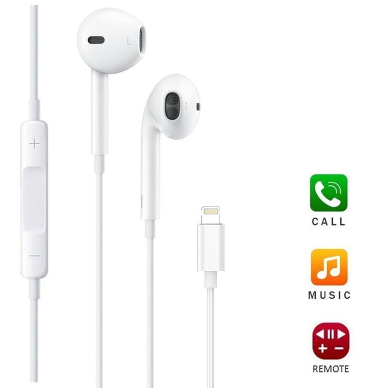 Ikismo, auriculares estéreo con graves, auriculares con cable, auriculares con micrófono para Control de iphone 8 7 Plus X XR XS Max, auriculares de música