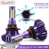 BraveWay-lampes de Diode pour Automobile   9005 pour Auto 9006 H4 H7 H11 H1 ampoule glacée de phare, lampes de Diode pour Automobile H1