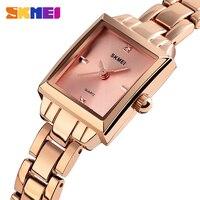 SKMEI Fashion Casual Women Watch Quartz Watches Top Brand Luxury Simple Style 3Bar Waterproof Wristwatches reloj mujer 1407