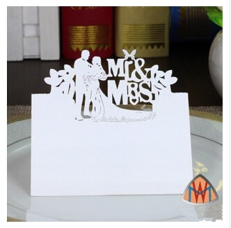 Tarjetas De lugar PASAYIONE con patrón De novia y novio, decoración para...