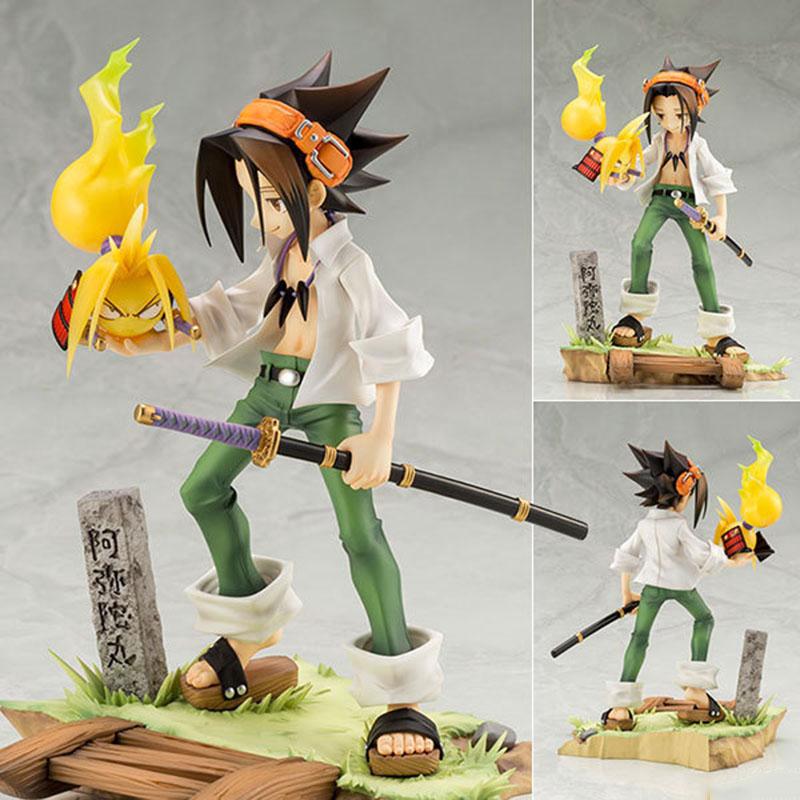 NEW HOT ARTFX J Anime Shaman King Yoh Asakura and AMIDAMARU 1/8 Figure Toy 18cm PVC Action Figure Collection Model Doll Toy Gift
