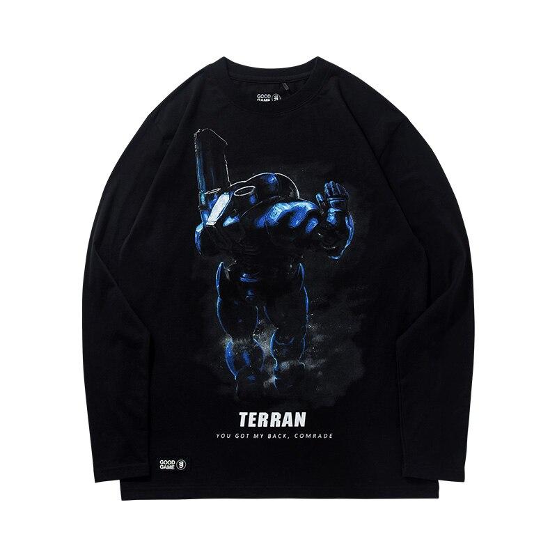 TEE7, camiseta informal de manga larga para hombre, para jugadores hardcore, zerg, Camiseta estampada de algodón a la moda, Camiseta con cuello para fiesta, Camiseta deportiva