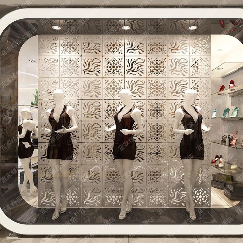 Pantalla divisora de habitación cuchillo plegable de madera mango de titanio escudo plegable decorativo particiones de plástico modelo panel de decoración