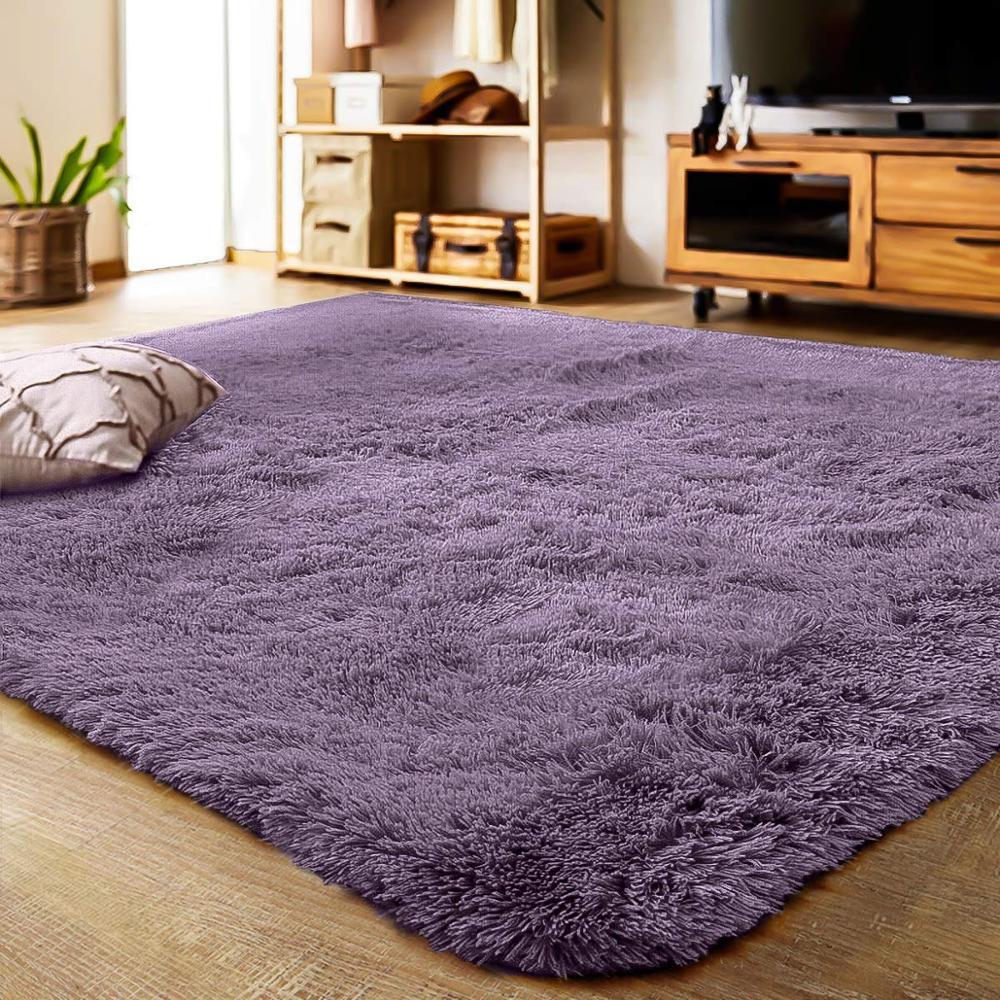 Мягкий Лохматый Ковер для гостиной, европейский домашний теплый плюшевый ковер, пушистые коврики для детской комнаты, коврик из искусствен...
