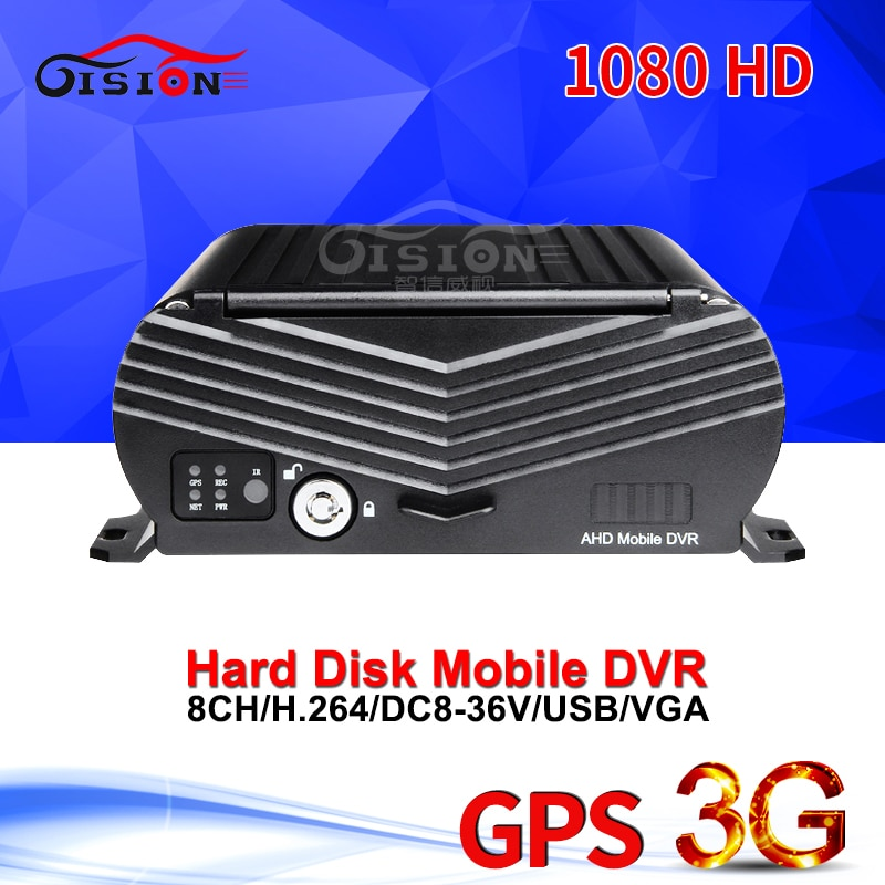 En Línea 3G GPS Tracker 1080N 8CH AHD Mdvr Video grabadora Disco Duro coche Cámara Dvr en tiempo Real Video PC/teléfono App 24H Dvr de vigilancia