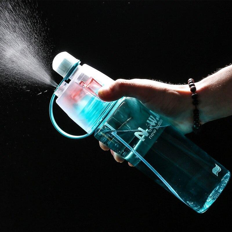 400/600ml venda quente spray esporte hidratante garrafa de água potável portátil plástico bicicleta ginásio shaker minhas garrafas de água
