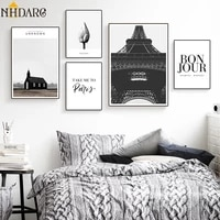 modern simple black white cityscape art posters and prints canvas painting minimalist fashion wall picture for living room