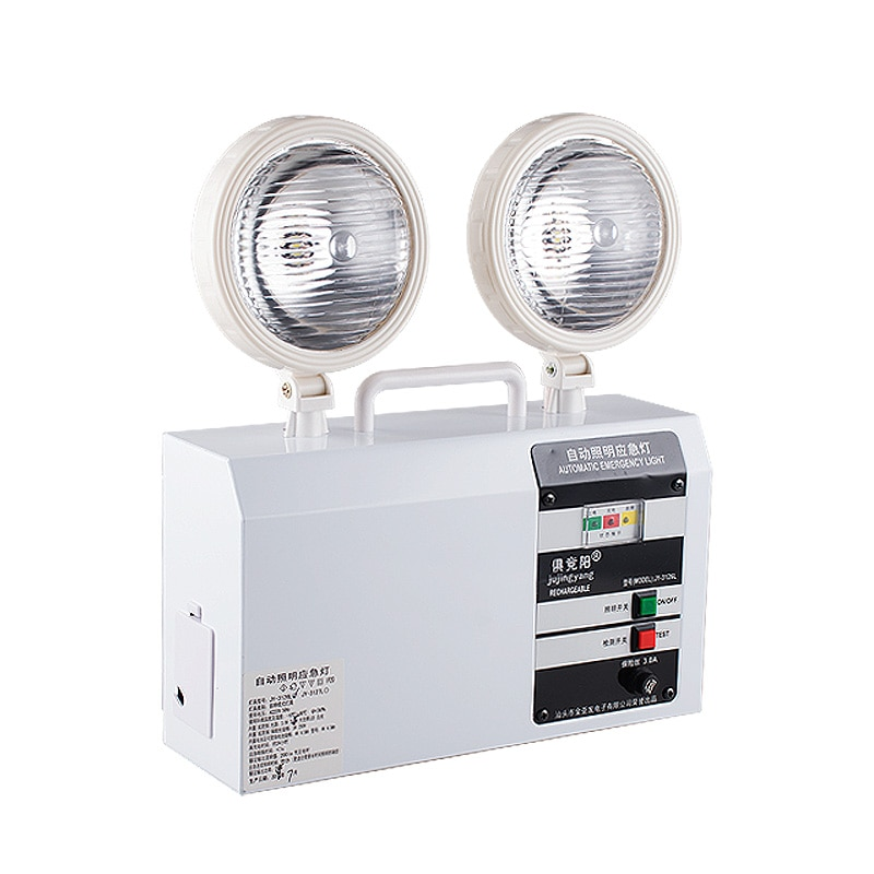 Luz de emergencia automática de 220V linterna LED recargable de doble cabeza Luz de salida de seguridad 10W Y