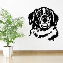 Stickers muraux ST BERNARD pour chiens   Nouveaux stickers muraux en vinyle 3D pour Hot DOG, décor de maison, Design artistique Mural dintérieur, livraison gratuite, 2016