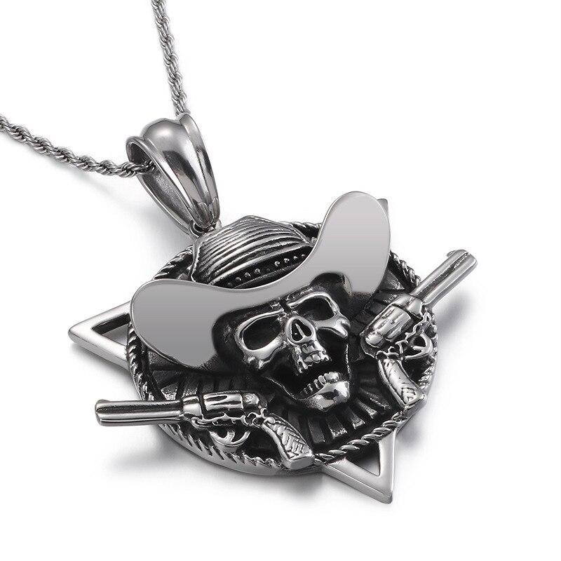 Accesorios de personalidad de capitán pirata de viento marino, colgante de acero inoxidable, joyería Punk de acero titanio para hombres