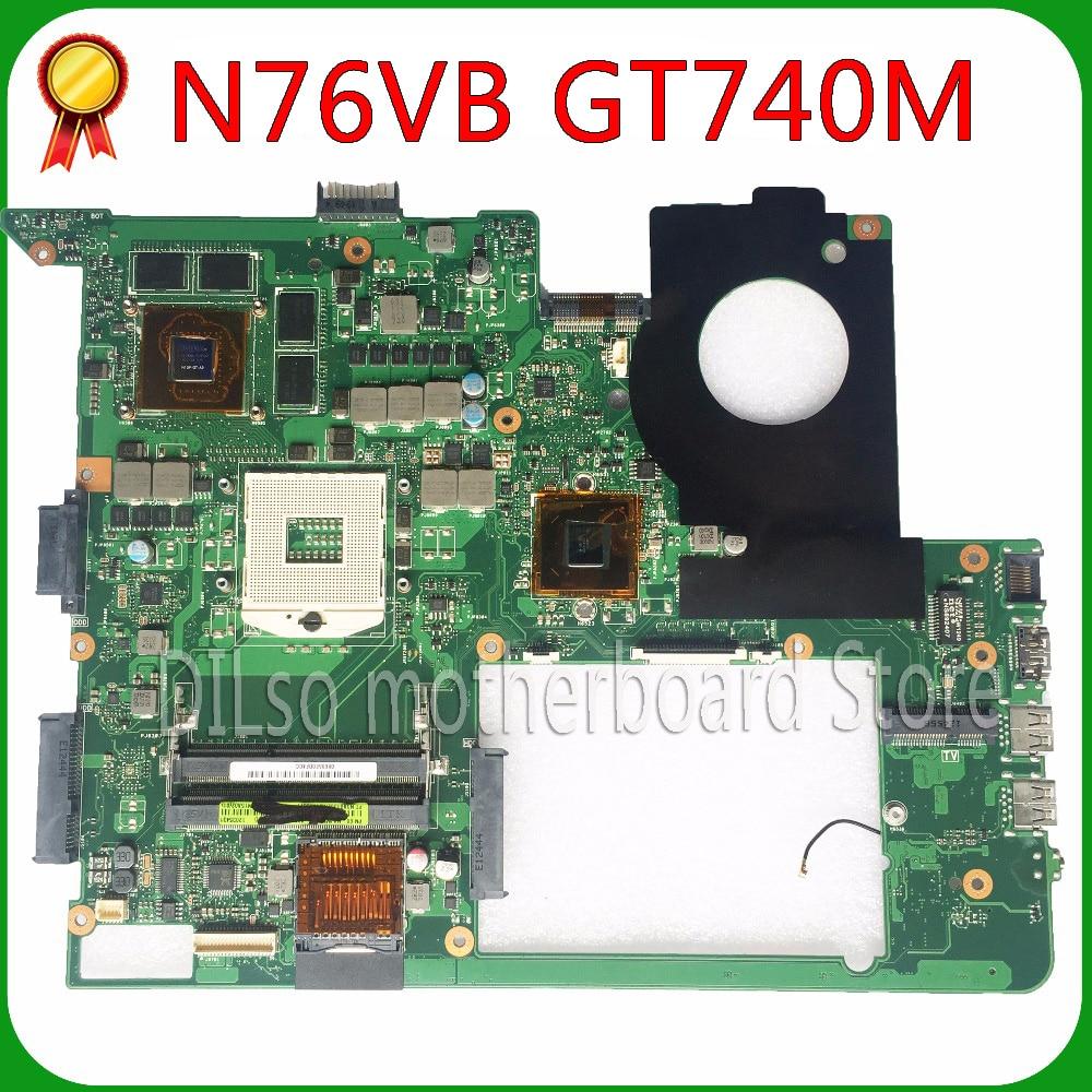 KEFU N76VB para ASUS N76VJ N76VZ N76V N76VM N76 placa base de computadora portátil GT740-2GB pruebas 100% original