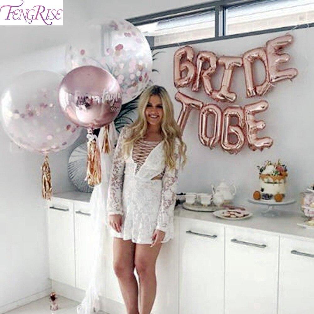 FENGRISE Miss To Mrs Balloon Bride To Be Balloons розовое золото украшение для вечеринки команда невесты To Be Crown Hen аксессуары для девичника