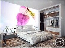 Individuelle foto tapete, Lila blatt schlafzimmer funktion große wandbilder für wohnzimmer TV wand vinyl Papel de Parede