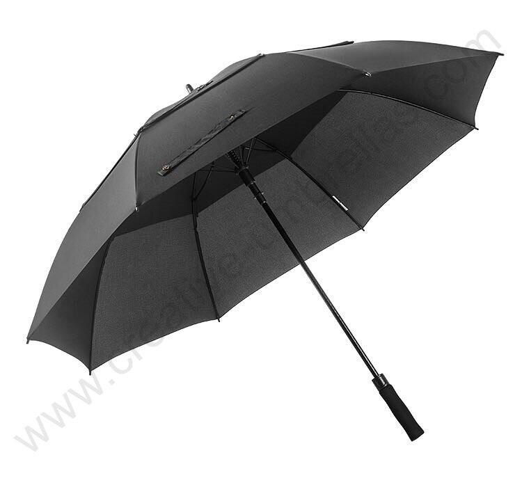 132cm visible real double layers frame ventilation anti-thunder fiberglass auto open windproof anti static golf umbrella enlarge