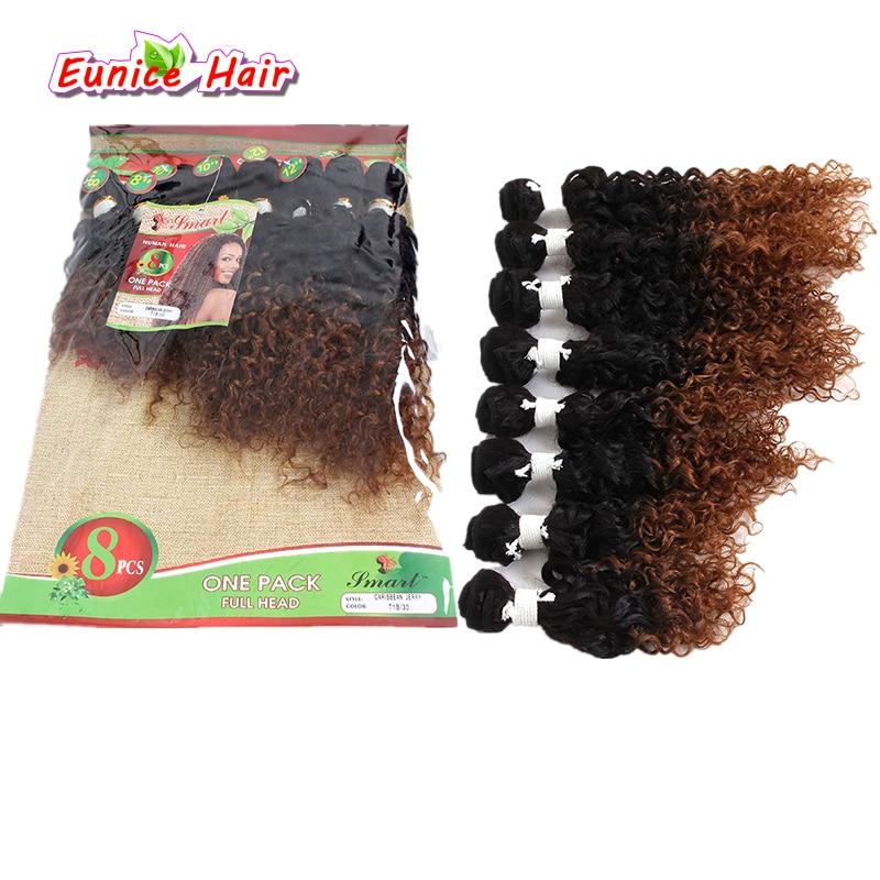 Fasci di capelli ricci crespi di Jerry dell'onda profonda 1B/27 1B/30 di 8 pz/lotto capelli brasiliani non trattati di Jerry dei capelli ricci crespi