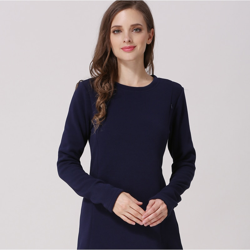 Emotion Moms New Long Sleeve Maternity Clothes COTTON winter Top Breastfeeding tops for Pregnant Women maternity T-shirt enlarge