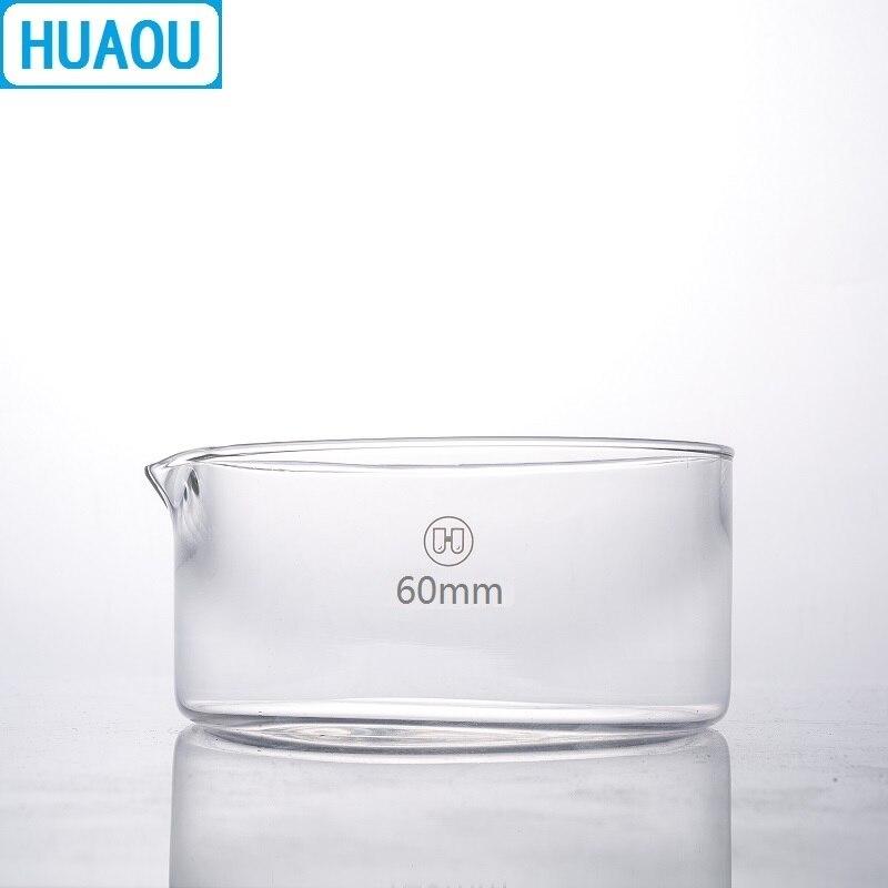 HUAOU 60 мм кристаллическое блюдо боросиликатное 3,3 стекло лабораторное химическое оборудование