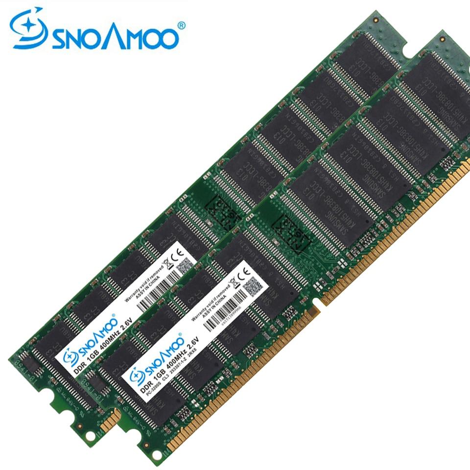 SNOAMOO-ordenador de escritorio de 333MHz, 1GB, PC-2700U, DDR1, 400MHz, DIMM, no ECC,...