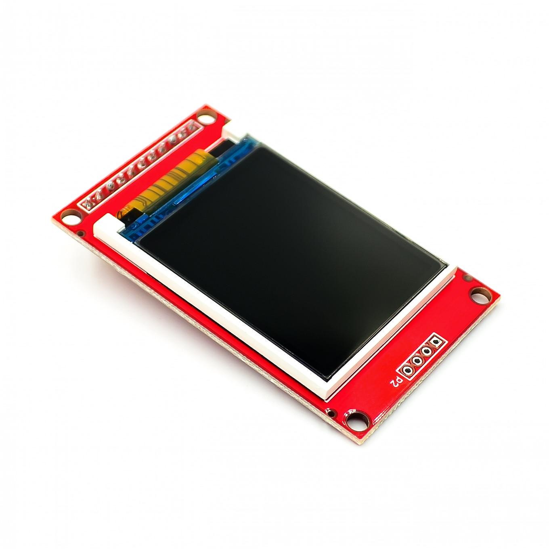 1,8 pulgadas TFT LCD Módulo de pantalla LCD SPI serie 51 conductores 4 IO conductor TFT Resolución 128*160 TFT de 1,8 pulgadas