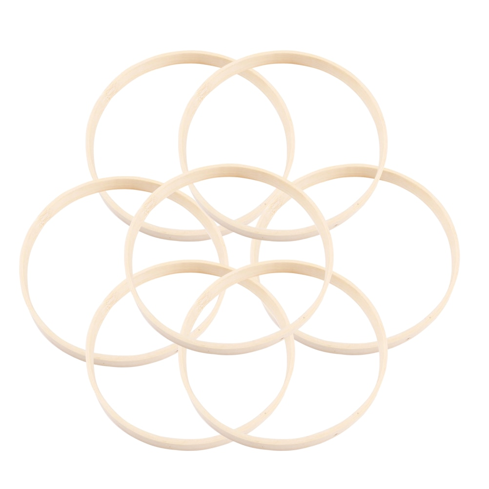 10 pçs diâmetro anel apanhador de sonhos redonda de madeira de bambu argola diy artesanato ferramentas para mulher menina fêmea 15cm/20cm2 3cm/26cm