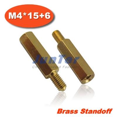 500pcs/lot Brass Standoff Spacer M4 Male x M4 Female -15mm