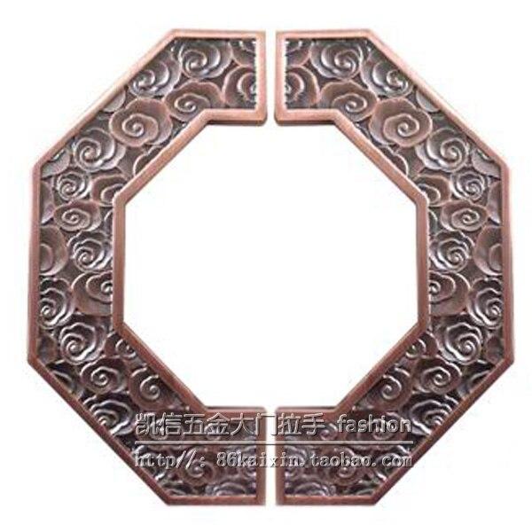 مقبض باب فندق النادي ، مقبض باب زجاجي أوروبي حديث ، نصف دائرة بمقبض خشبي عتيق صيني
