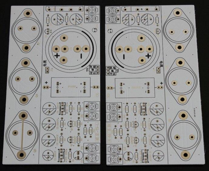 Rápido envío gratis 2 uds Hood 1969 Placa de amplificador de clase A perfecta versión de 6 tubos silenciosa Bare PCB hifi, amplificador de potencia de audio Clase a