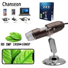 Chanseon HD 2.0 ميجا بكسل 1000X3 في 1 USB أندرويد نوع-c مجهر ستيريو المجهر الرقمي الإلكتروني كاميرا المنظار
