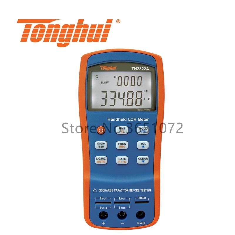 Medidor LCR portátil TH2822A con frecuencia de prueba 100Hz, 120Hz, 1kHz,10kHz medidor RLC