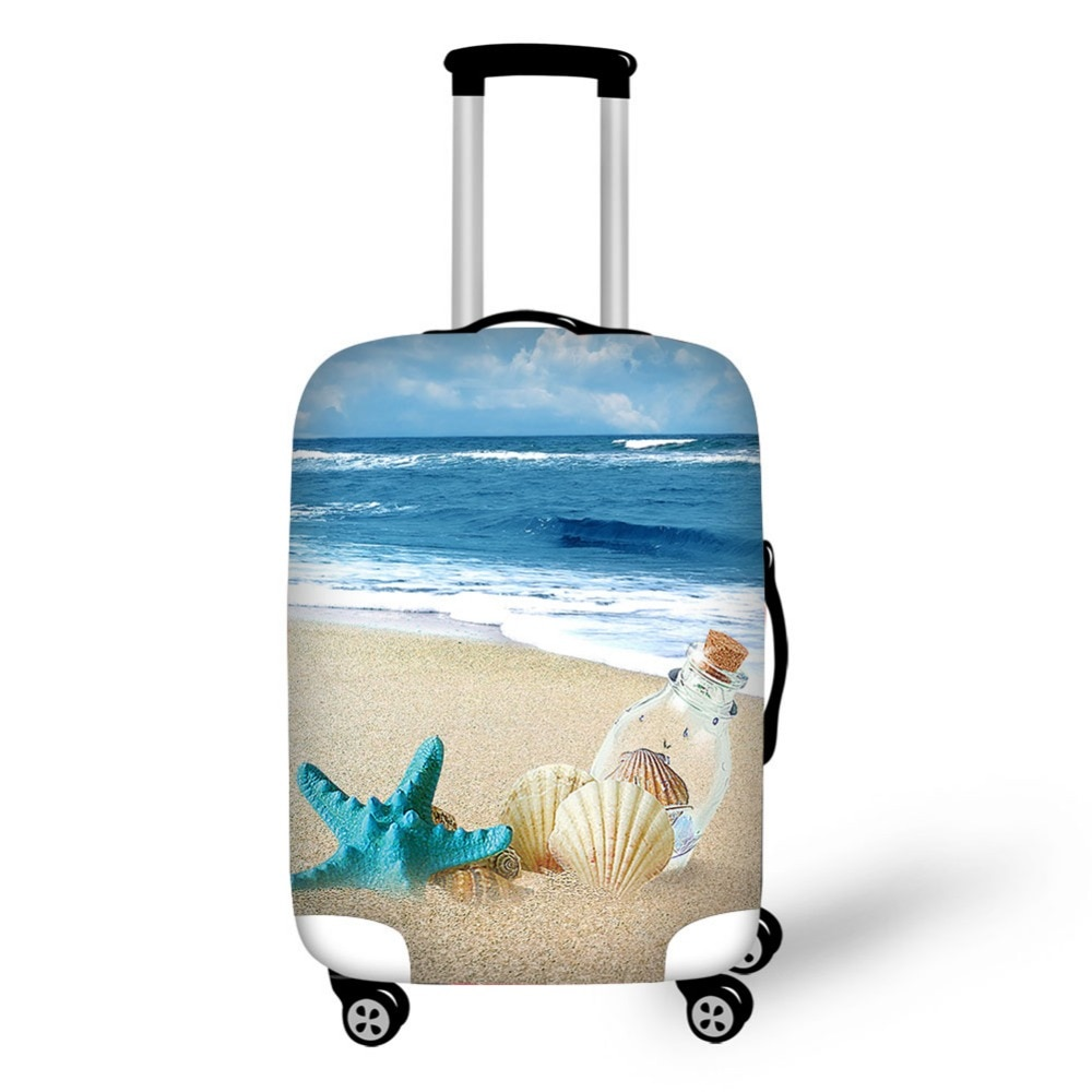 Tourist resort beach Series Luggage Cover High Elastic Apply to 18-30 inch Trolley Case Travel Suitcase Covers Bags baan laimai beach resort