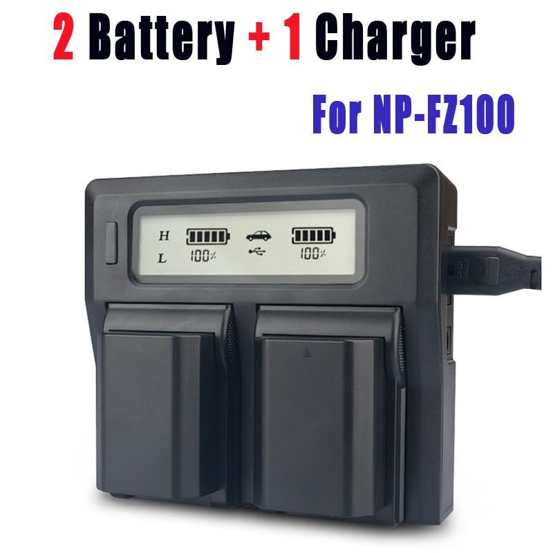 Bateria + Smart Duplo para Sony Pces Fz100 Led Carregador Usb Bc-qz1 Sony a9 A7r Iii a7 Ilce-9 2 Np-fz100 Npfz100 np