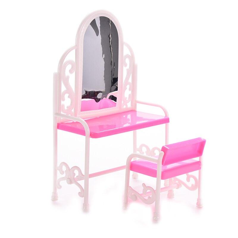 Gran oferta de juguetes para bebés, muñecas princesas, mobiliario moderno, tocador para niñas, regalo de cumpleaños, mesa de baño para niñas, accesorios para muñecas