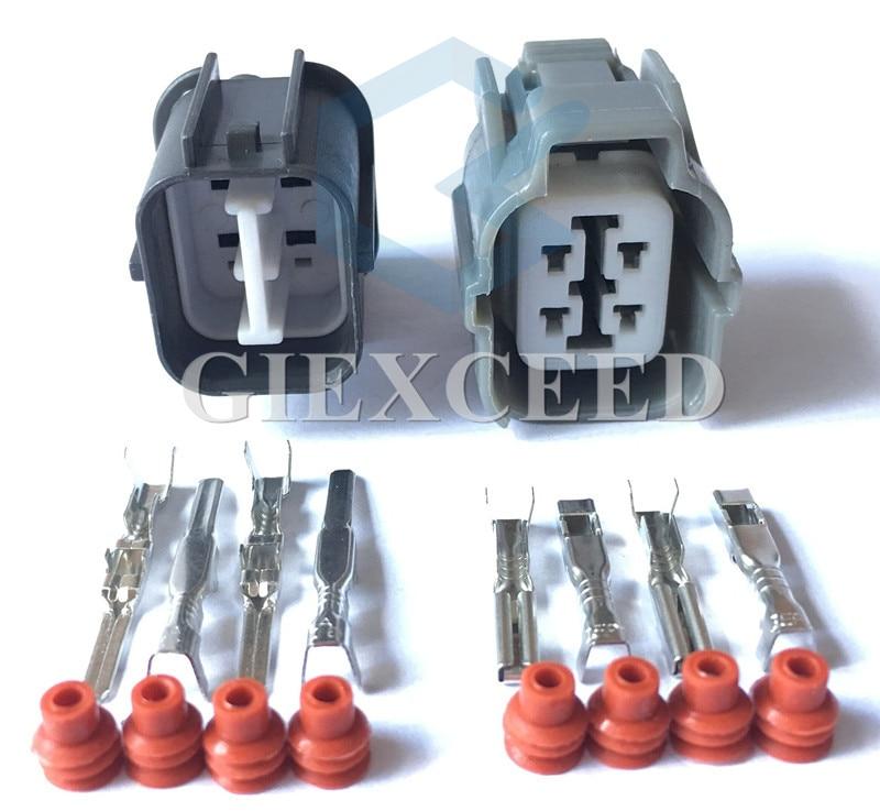 4 Pin 6189-0132 6181-0073 HW Sealed Auto Connector Light Lamp Motor Socket For Toyota Camry Honda B-Series O2 Sensor Plug