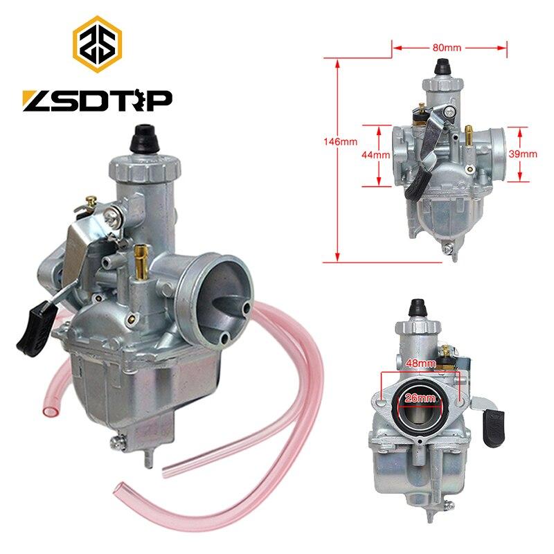 ZSDTRP Mikuni VM22 carburador 26mm carbohidratos para 125 /140/150/160cc motor suciedad Pit Bike ATV motocicleta tipo Quad